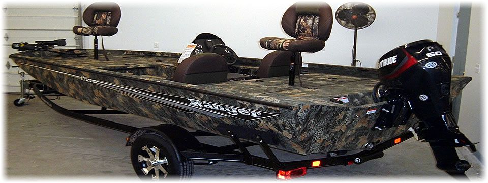 Ranger Camo RT178 with Evinrude