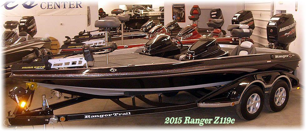 2015 Ranger Z119c Mercury 225 Optimax Pro XS