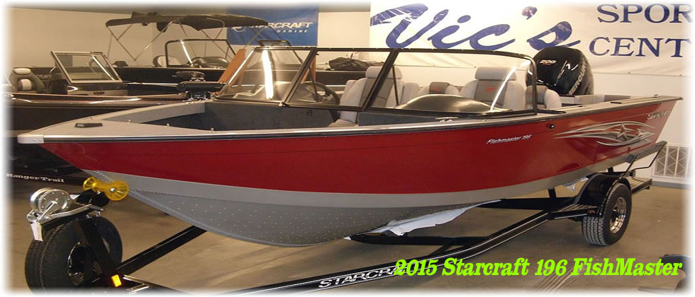 2015 Starcraft 196 FishMaster - Mercury 200 Pro Four Stroke