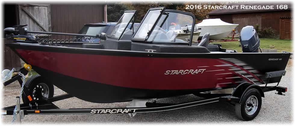 2016 Starcraft Renegade 168 - Yamaha 70 Four Stroke