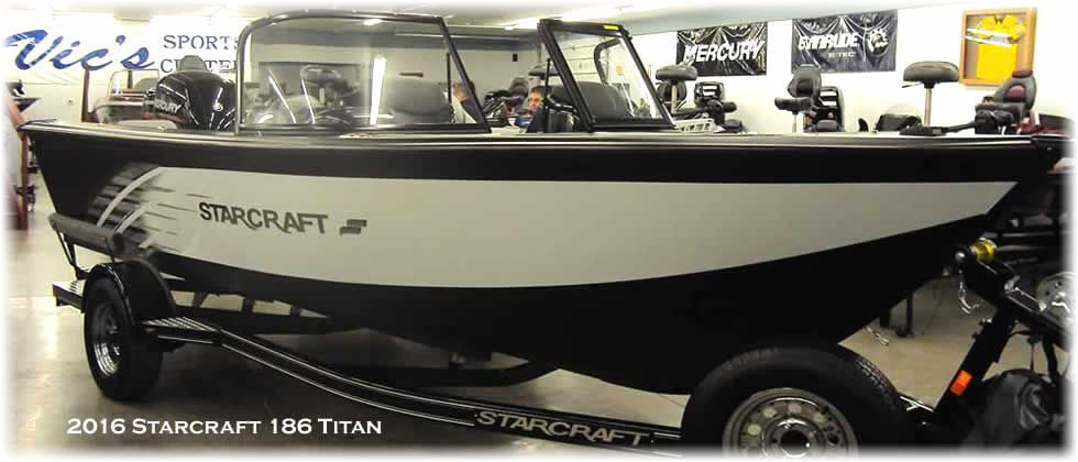2016 Starcraft Titan 186 - Mercury 150 Four Stroke