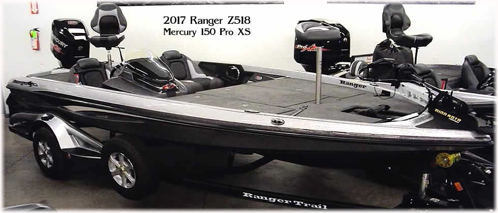 2017 Ranger Z518 - Mercury 150 Optimax Pro XS