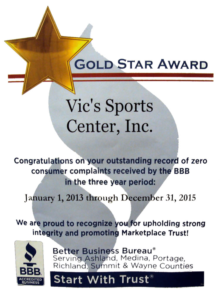 Gold Star Award - Better Business Bureau