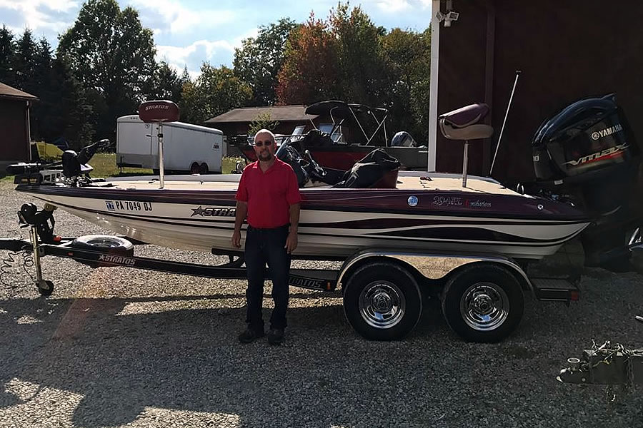 Rudy and his 2011 Stratos 294XL Bass Boat