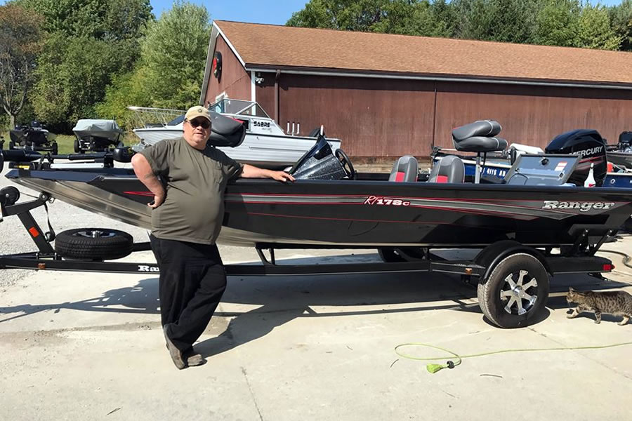 Dwayne and his 2017 Ranger RT178 Aluminum Bass Boat