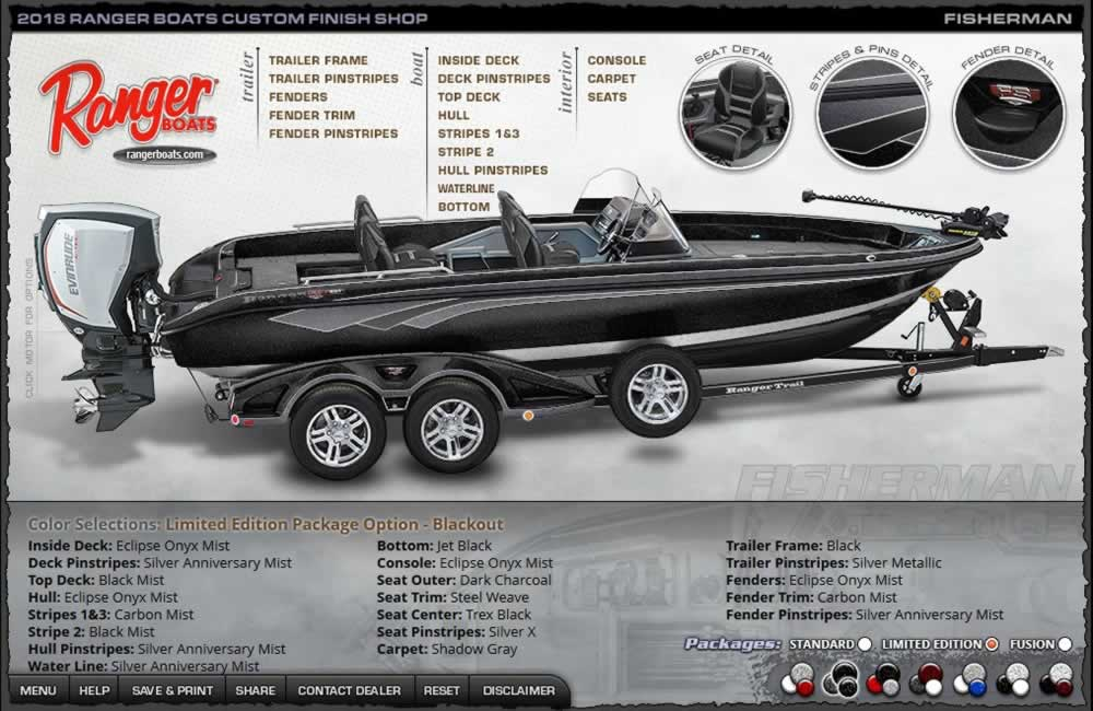 2018 Ranger Fisherman - Blackout Package