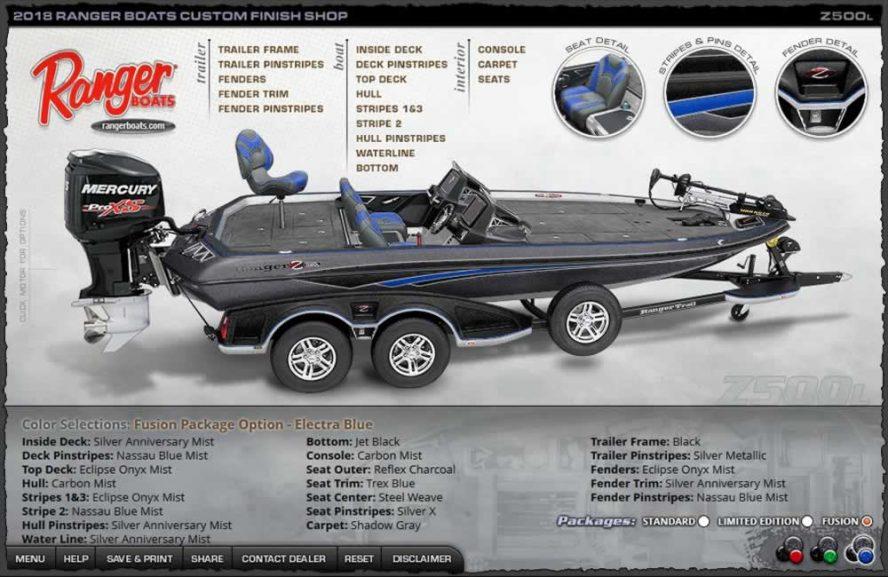 Ranger Boats Z500L - ElectraBlue Fusion