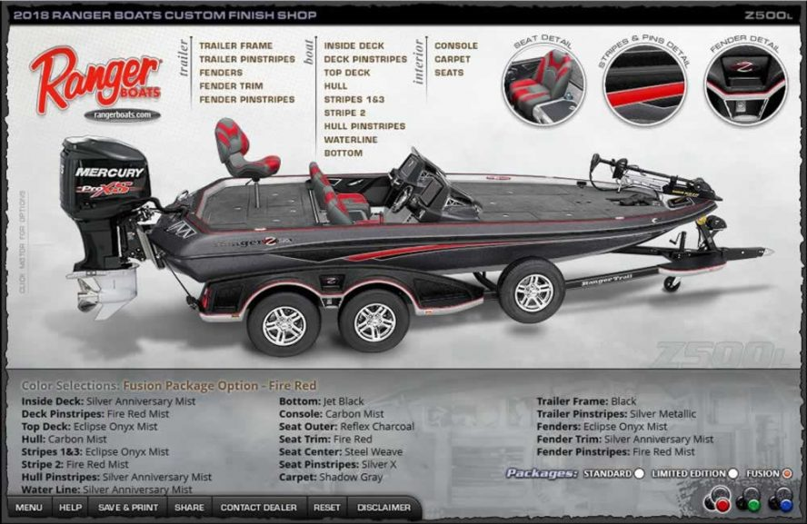 Ranger Boats Z500L - FireRed Fusion