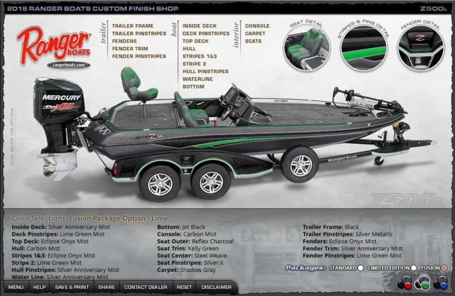 Ranger Boats Z500L - Lime Fusion