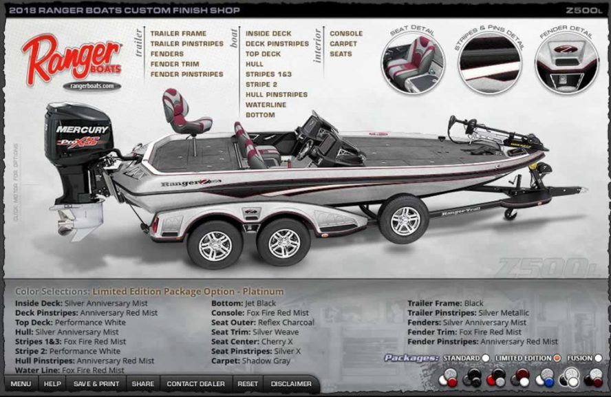 Ranger Boats Z500L - Platinum Edition