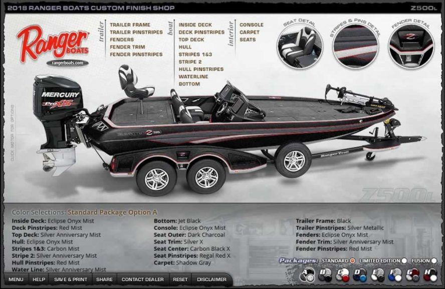 Ranger Boats Z500L - Color Package A
