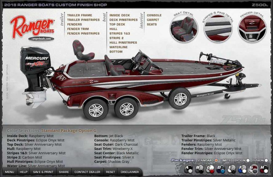 Ranger Boats Z500L - Color Package G