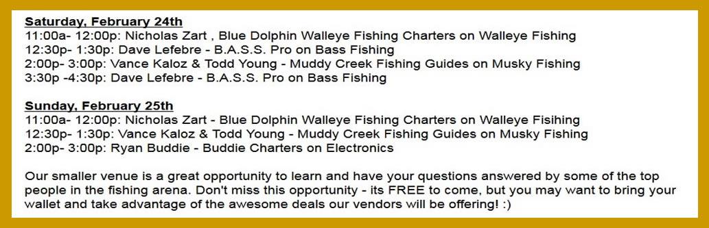 Vics Boats Open House Seminar Schedule