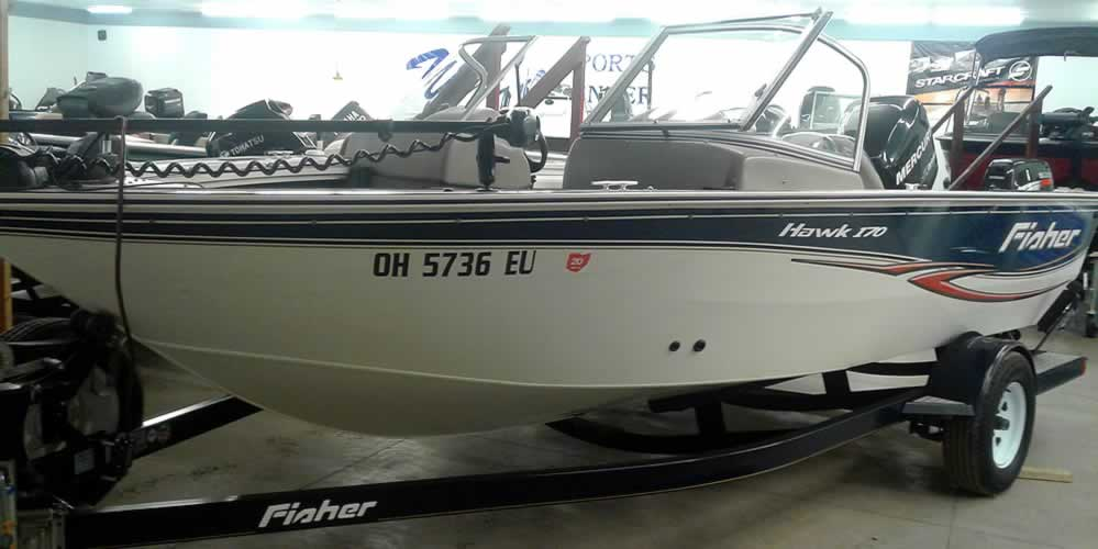 2007 Fisher Hawk 170 – Mercury 115 – Suzuki 9.9