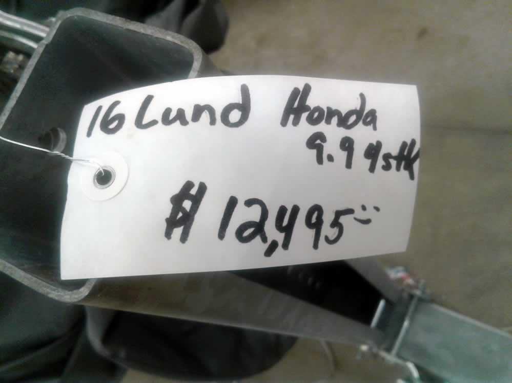 2016 Lund 1600 Fury SC - Honda 9.9 Four Stroke