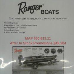 2020 Ranger 1850MS Reata - Mercury 150 XS Four Stroke