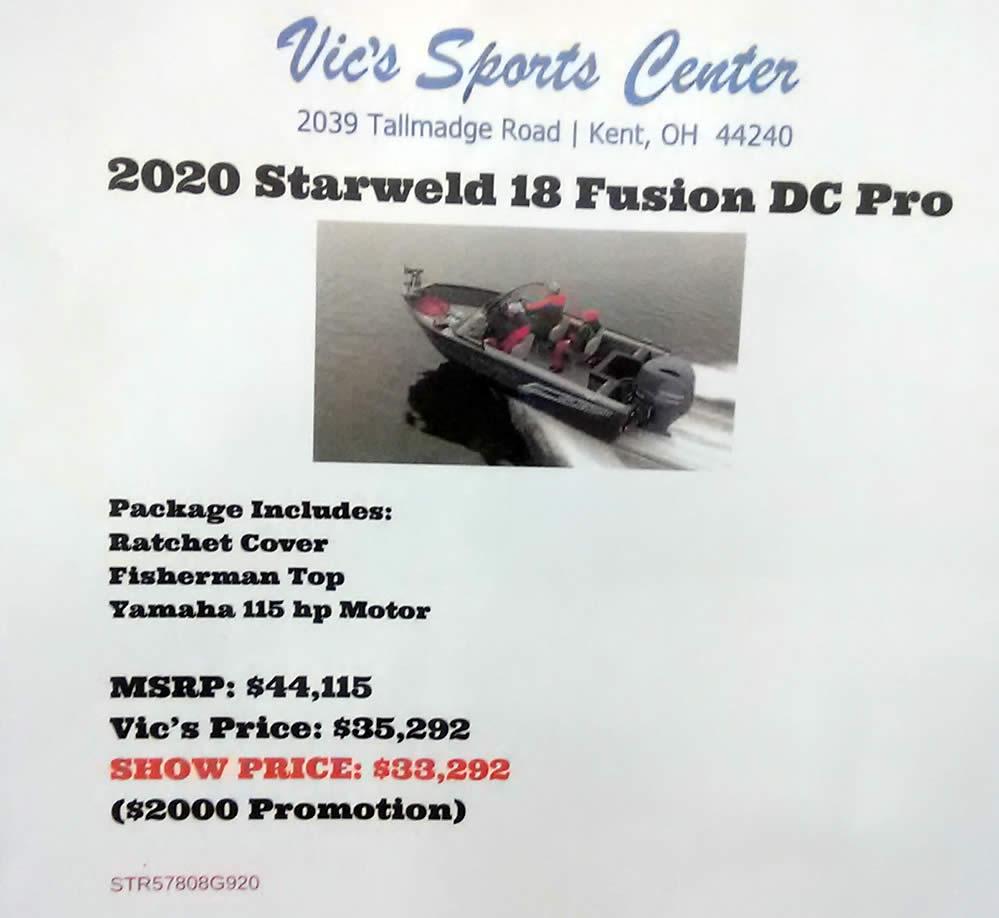 StarWeld 18 Fusion DC Pro - Yamaha 115 Four Stroke