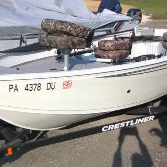 2018 Crestliner 1650 Discovery - Mercury 25 Four Stroke